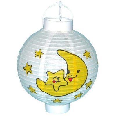 Lampion měsíc a hvězdy na baterie