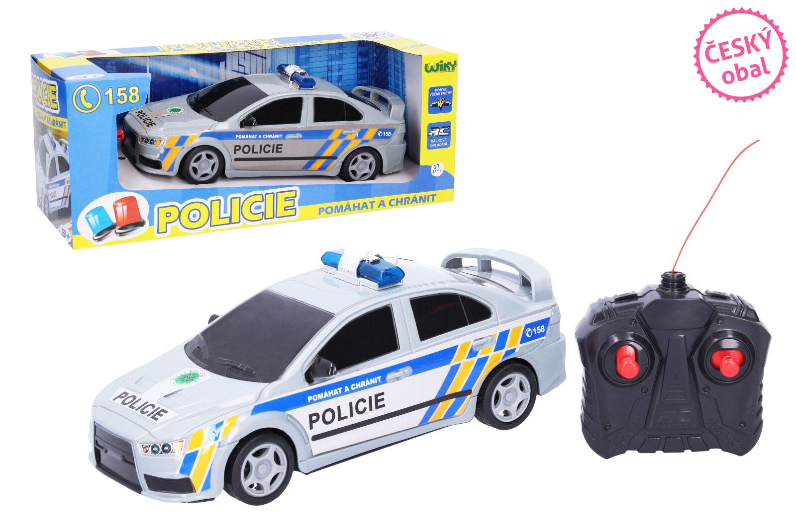 Auto RC na dálkové ovládání policie ČR 23 cm - II. jakost