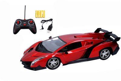 Auto RC na dálkové ovládání 30 cm červená barva - II. jakost