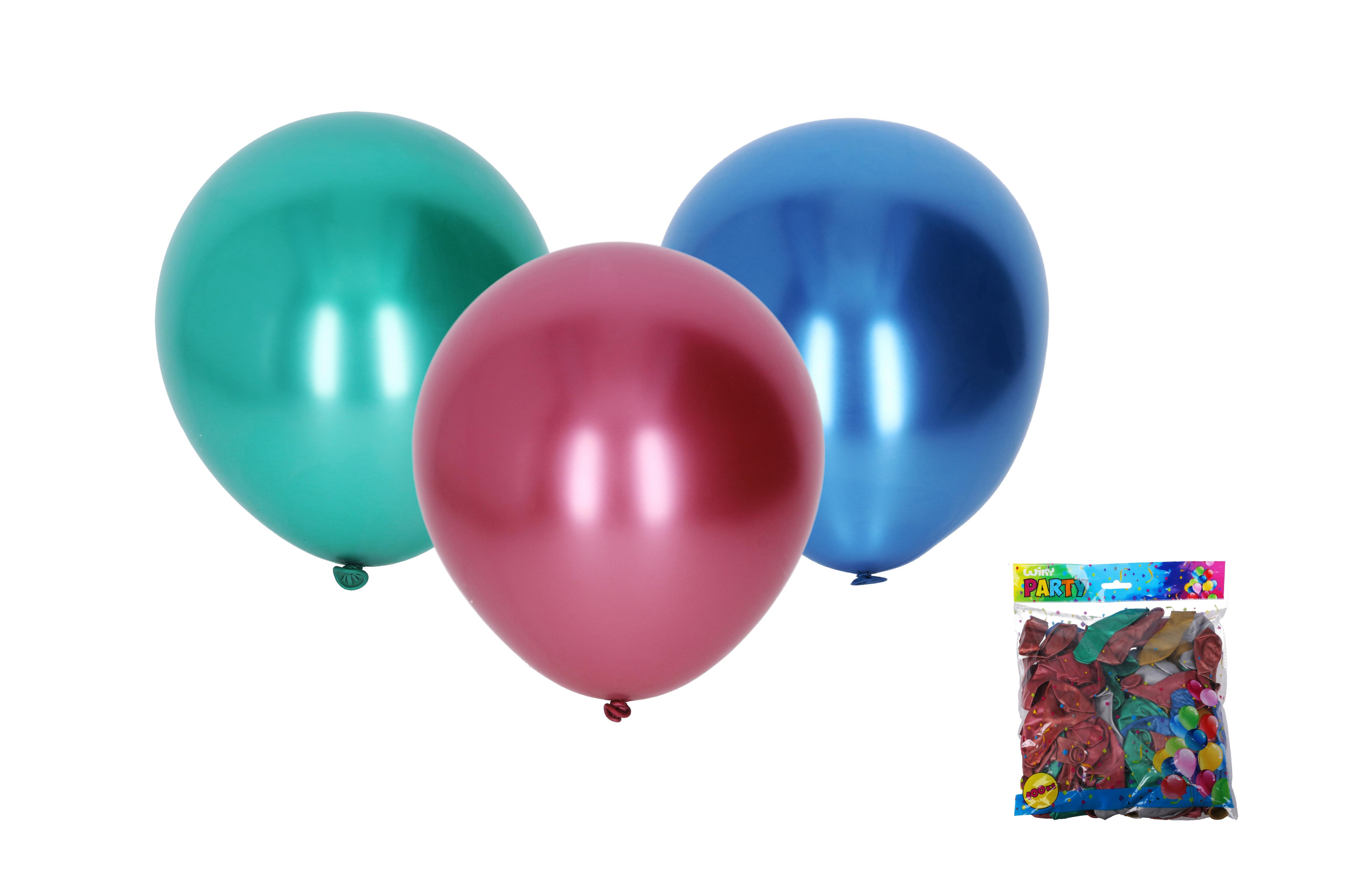 Balónek nafukovací 25cm chromový