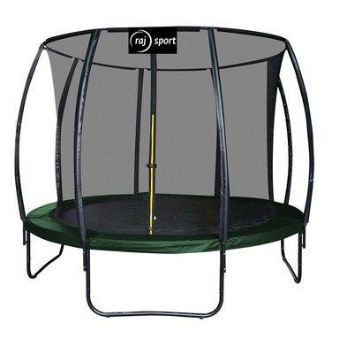 Raj Sport tm. zelená trampolína 427 cm s vnitřní sítí a žebříkem