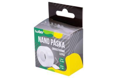 Oboustranná lepící nano páska, 1m x 3cm